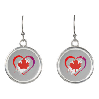 Canada heart earrings