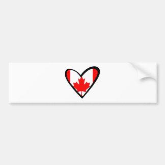 Canada heart Flag Bumper Sticker
