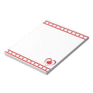 Canada heart notepad