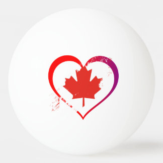 Canada heart ping pong ball