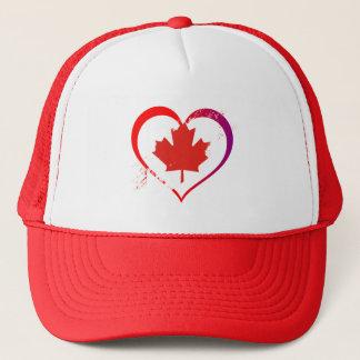 Canada heart trucker hat