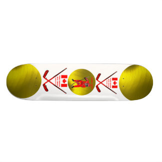 CANADA HOCKEY GOLD-SKATEBOARD SKATE BOARD DECK