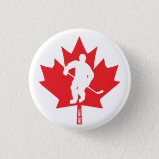 Canada Hockey Maple Leaf Player Flare 3 Cm Round Badge