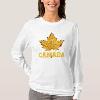 Canada Hoodies Women's Gold Maple Leaf Hoodie Shir