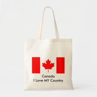 Canada I Love MY Country Flag CA Template Canvas Bag