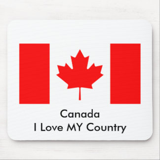 Canada I Love MY Country Flag CA Template Mousepads