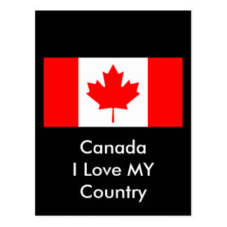 Canada I Love MY Country Flag CA Template Post Cards