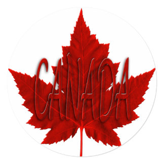 Canada Invitations Personalized Canada Flag RSVP