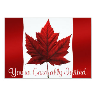 Canada Invitations Personalized Canada RSVP Cards