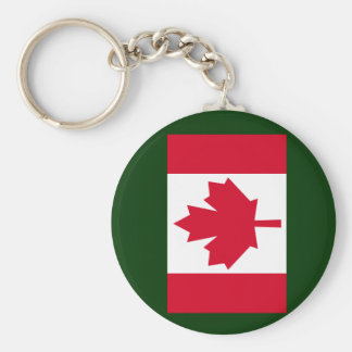canada basic round button key ring