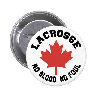 Canada Lacrosse Canadian 6 Cm Round Badge