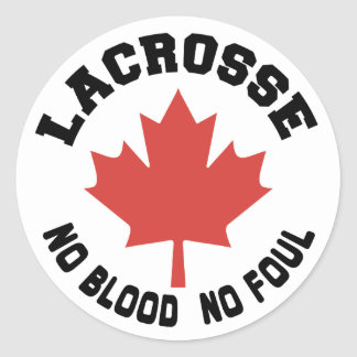 Canada Lacrosse Canadian Round Stickers
