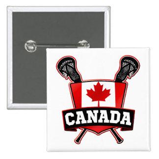 Canada Lacrosse Logo Button Pin