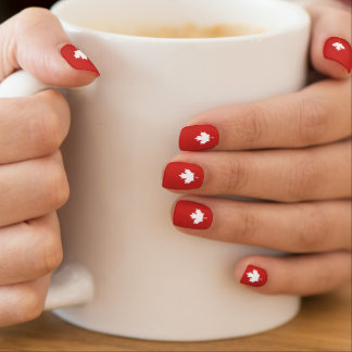 Canada leaf nails minx nail art
