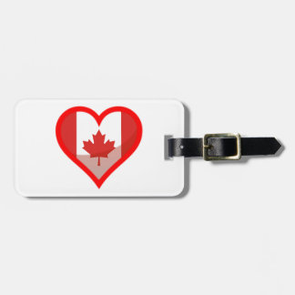 Canada love luggage tag