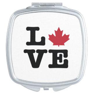 Canada Love Maple Leaf Compact Mirror