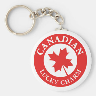 Canada Lucky Charm Luck ED. Series Basic Round Button Key Ring