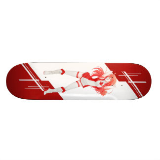 Canada Manga Anime girl dressed in Flag Skate Board Deck