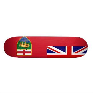 Canada Manitoba Flag Skateboard