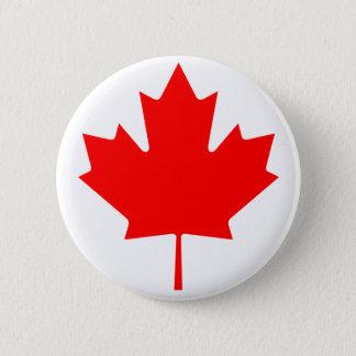 Canada Maple Leaf 6 Cm Round Badge