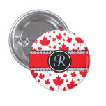 Canada Maple Leaf Abstract Diamond Monogram 3 Cm Round Badge