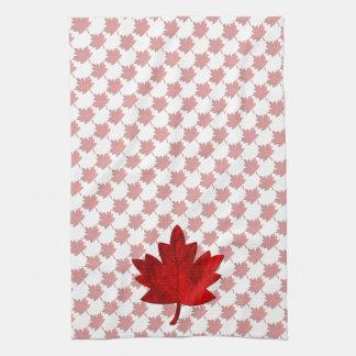 Canada-Maple Leaf by Shirley Taylor Tea Towel