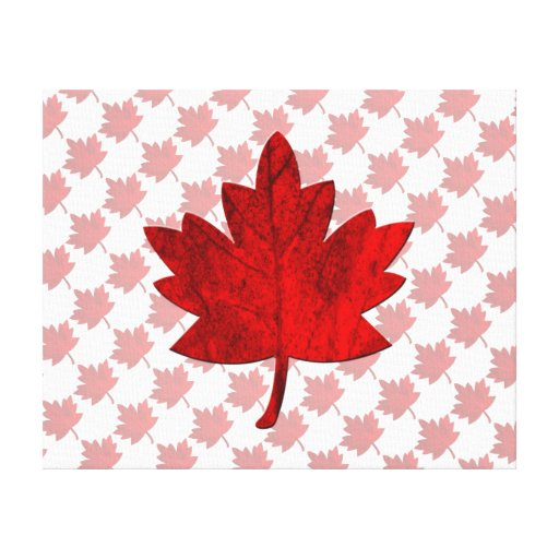 Canada-Maple Leaf Gallery Wrapped Canvas