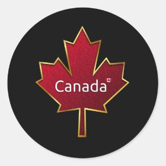 Canada Maple Leaf Classic Round Sticker