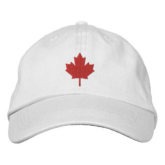 Canada Maple Leaf Embroidered Hat