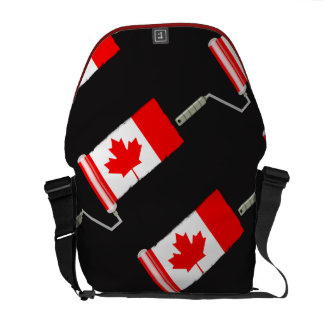 Canada Maple Leaf Flag Paint Roller Messenger Bags