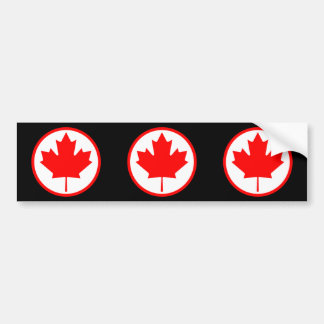 Canada Maple Leaf Inside of a Ring Bumper Sticker