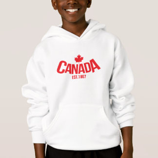 Canada maple leaf kids hooded jumper