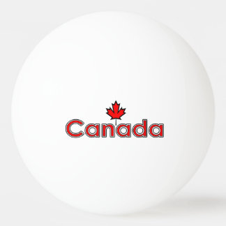 Canada Maple Leaf Ping Pong Ball