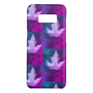 Canada Maple Leaf Purple Blue Stylish Organic Art Case-Mate Samsung Galaxy S8 Case