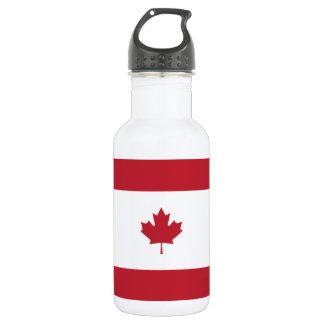 Canada Maple Leaf Red Stripe Water Bottle