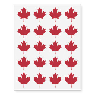 Canada Maple Leaf Temporary Tattoos