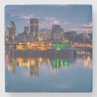 Canada, Montreal, skyline and Old Port Stone Coaster