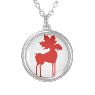CANADA MOOSE SILVER PLATED NECKLACE