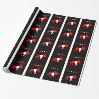 Canada Moose wrapping paper