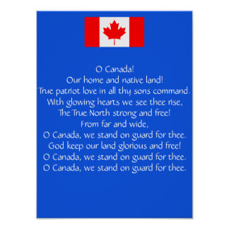 Canada National Anthem Poster