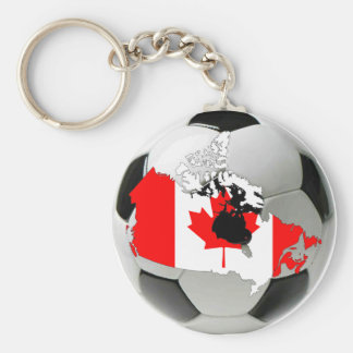 Canada national team basic round button key ring