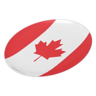 Canada Plain Flag Plate
