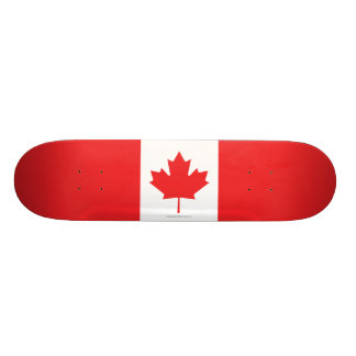 Canada Plain Flag Skate Boards