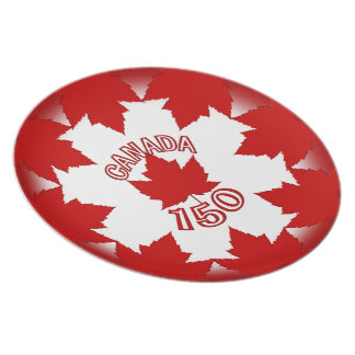 Canada Plates Canada 150 Maple Leaf Plates