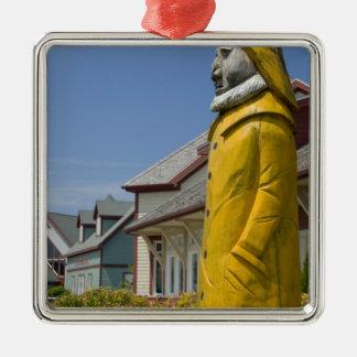 Canada, Prince Edward Island, Borden-Carleton. Silver-Colored Square Decoration