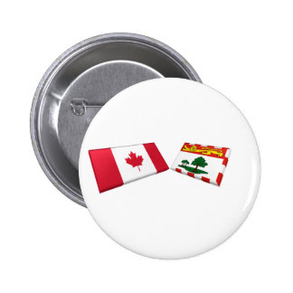 Canada & Prince Edward Island Flag Tiles Pin
