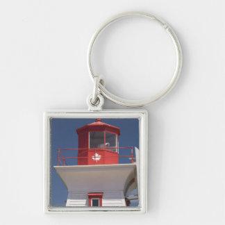 Canada, Prince Edward Island, Victoria. Silver-Colored Square Key Ring