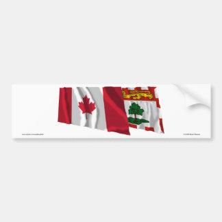 Canada Prince Edward Island Waving Flags Bumper Sticker