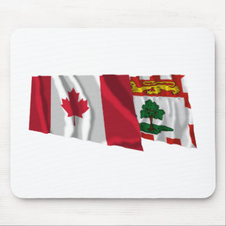 Canada & Prince Edward Island Waving Flags Mouse Pads
