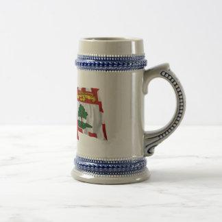 Canada Prince Edward Island Waving Flags Coffee Mug
